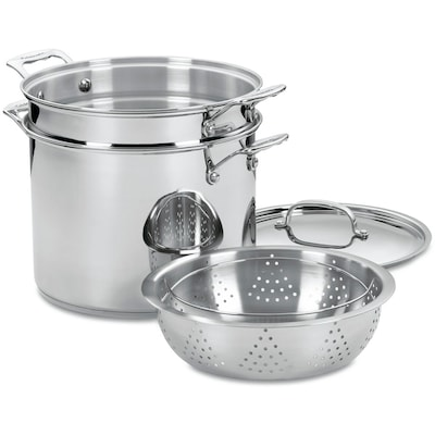 Chef's Classic Stainless 12 Qt. Four Piece Pasta/steamer Set