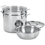 Chefs Classic Stainless 12 Qt. Four-Piece Pasta/Steamer Set
