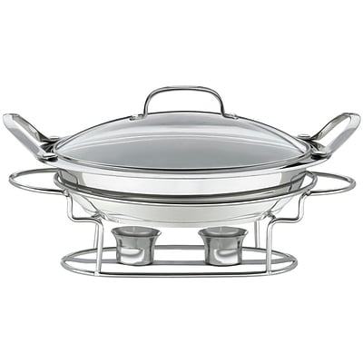 Stainless Steel 11 In. (3 Qt.) Round Buffet Server