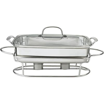 Stainless Steel 12 In. (5 Qt.) Rectangular Buffet Server