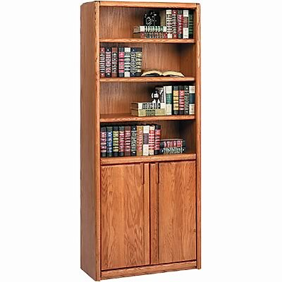 Martin Furniture Oak Contemporary Office Grouping; 70H Bookcase with Lower Doors