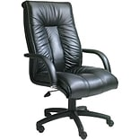 Boss® Italian Black Leather Executive Chair