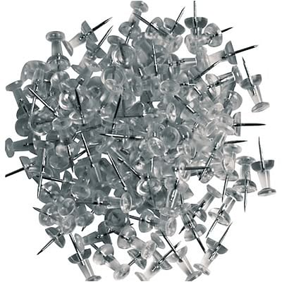 Quill Brand® Plastic Push Pins; Clear, 100/Pack