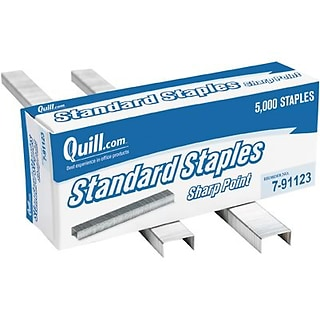 Quill Brand® Standard Staples, 1/4, 5,000/Box