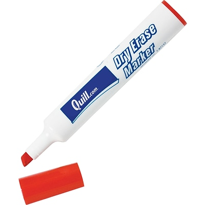 Quill Brand® Dry Erase Markers; Chisel Point, Red, 1 Dozen
