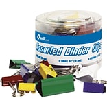 Quill Brand® Binder Clips; Astd Colors, 30/Tub