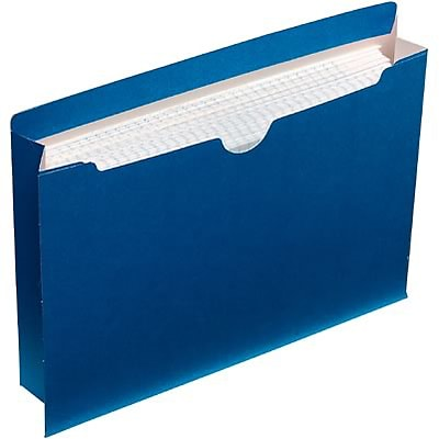 Quill Brand® Colored File Jackets; Letter Size, 2 Expansion, Blue, 50/Box
