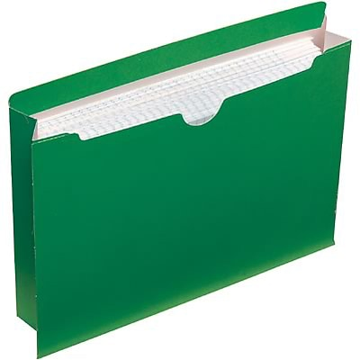 Quill Brand® Colored File Jackets; Legal Size, 2 Expansion, Green, 50/Box