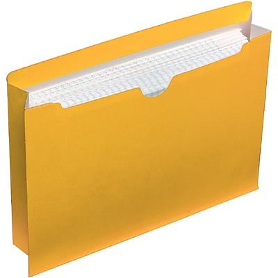 Quill Brand® Colored File Jackets; Letter Size, 2 Expansion, Yellow, 50/Box