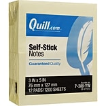 Quill Brand® Sticky Notes, 3x5, Yellow
