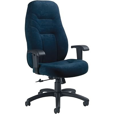 Global® 9365 Series High-Back Executive Multi-Function Chair; Navy Blue
