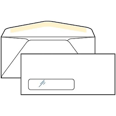Quill Brand® Premium Single Left Window Business Envelopes; #10 with Window, 500/Box
