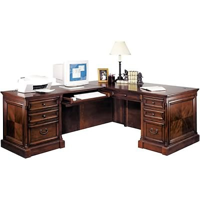Martin Furniture Mount View Collection; Left-Hand L Workstation
