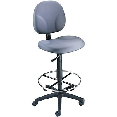 Boss® Drafting Stool with Swivel Base; Grey