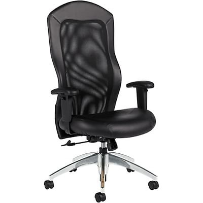 Global® 9368 Series Leather High-Back Mesh Tilter Chair