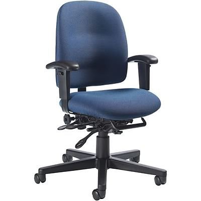 Global® Granada Low-Back Task Chair, Navy Blue