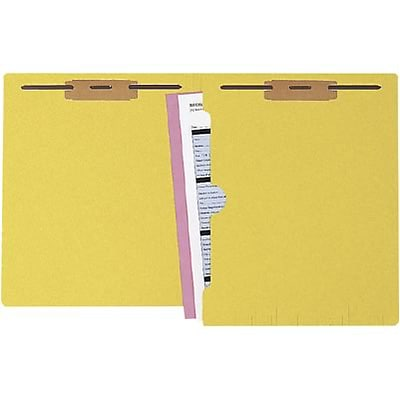 Medical Arts Press® Colored End-Tab Fastener Folders; Full-Pocket with 2 Fasteners, Yellow