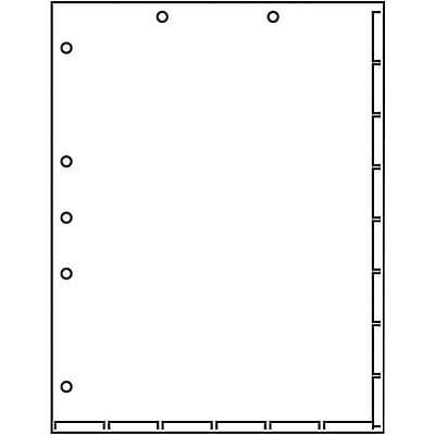 Medical Arts Press Chart Divider Sheets, 7-Hole Punched, Letter, White, 250/Bx (20250)