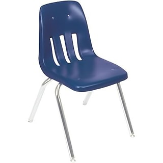 Virco 14 Navy Ventilated Plastic Chairs