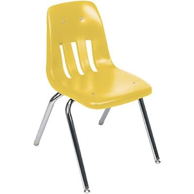 Virco® 14H One-Piece Ventilated Plastic Stack Chairs; Squash