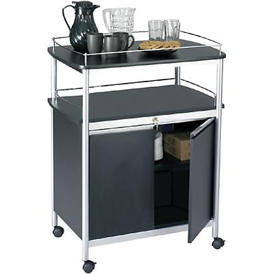 Safco® Mobile Beverage/Office Cart; with Locking Cabinet