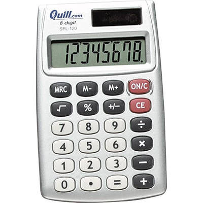 Quill Brand® Handheld Pocket Calculator, 8-Digit