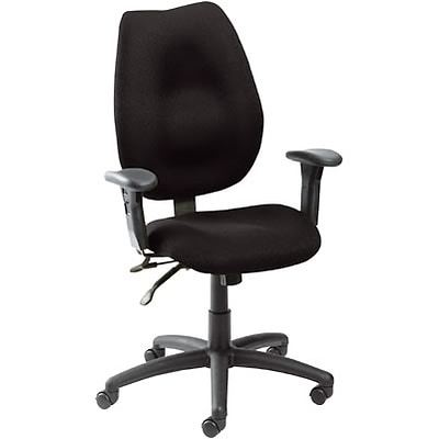 Boss® B1002 Series Fabric Task Chair With Arms; Black