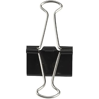 Quill Brand® Mini Binder Clips, 1/4 Capacity, Black, 12/Box (720100)