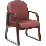 Lincolnshire Seating B9570 Burgundy/Mahogany Guest Armchair