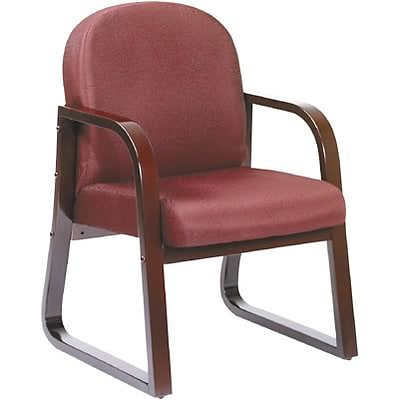 Lincolnshire Seating B9570 Series Mahogany Frame Guest Armchair; Burgundy