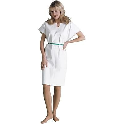 TIDI® Adult Disposable Gowns; Poly-Tissue, White