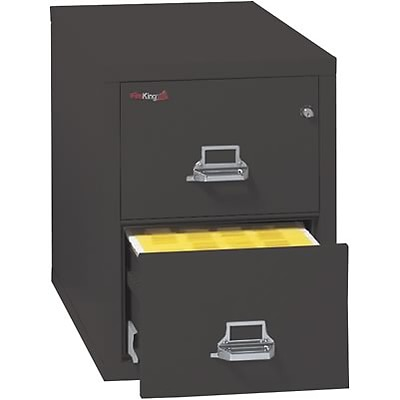 FireKing® 25 Deep Insulated File Cabinets; 2-Drawer, Legal, Black