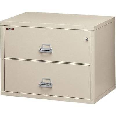 FireKing® Insulated Lateral Files; 2-Drawer, 31W, Parchment