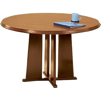 Lesro Conference Room Groupings in Oak Finish; 48 Round Conference Room Table