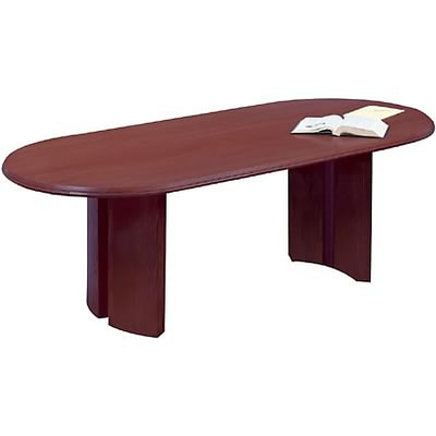 Lesro Conference Room Groupings w/Split Curvd Base Tables in Mahogany Finish; 120 Oval Table