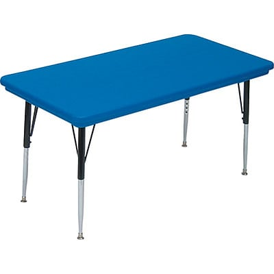 Correll® 30D x 60L Rectangular Heavy Duty Plastic Activity Table; Blue Top