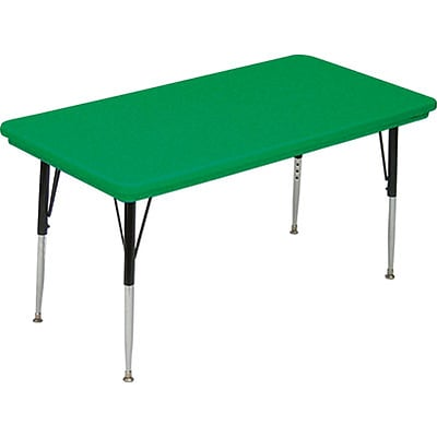Correll® 30D x 72L Rectangular Heavy Duty Plastic Activity Table; Green Top