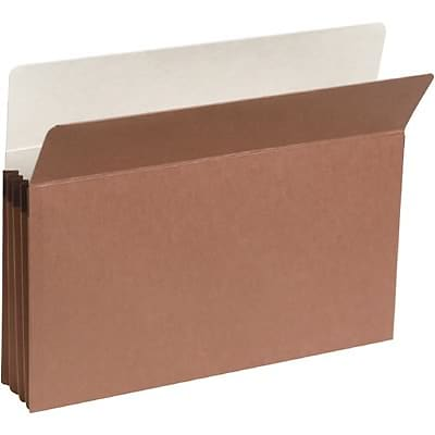 Quill Brand® Expanding File Pockets, 3-1/2 Expansion, Letter, 25/Bx (7Q1524)
