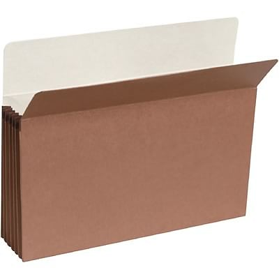 Quill Brand® Expanding File Pockets, 3-1/2 Expansion, Legal, 25/Bx (7Q1526)