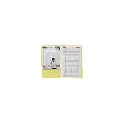 Quill Brand® Colored 2-Fastener Folder; 1/3 Cut Tab, Legal Size, Yellow, 50/Box