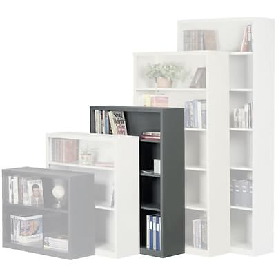 Sandusky Metal Stationary Bookcase in Putty; 52, 4-Shelves
