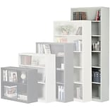 Sandusky Putty Metal 6-Shelf Bookcase
