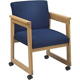 Navy Guest Chair w/Casters