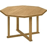 Lesro Conference Room Groupng w/Octagnal Tables in Medium Oak Finish;48 Octagnal Table,Straight Edg