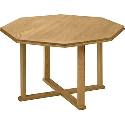 Lesro Confernce Room Groupng w/Octagnal Tables in Medium Oak Finish;42 Octagnal Table,Straight Edge