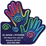 Medical Arts Press® Chiropractic Die-Cut Magnets; 3x2-3/4; Rainbow Hands