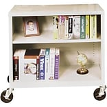 Sandusky Mobile Charcoal 2-Shelf Bookcase