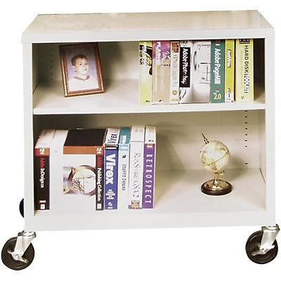 Sandusky Metal Mobile Bookcase in Charcoal; 36, 2-Shelves