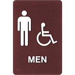 Premium Standard Message ADA Braille Signs; Men Handicap