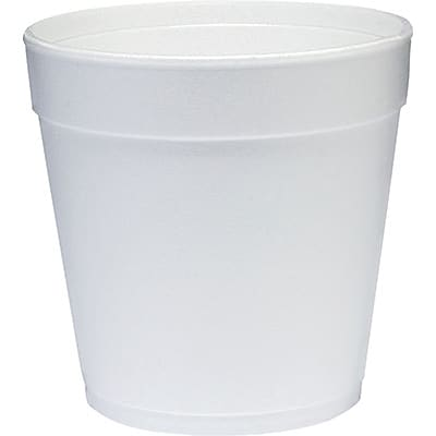 Dart® Round Foam Containers; White, 32 oz., 500/Case